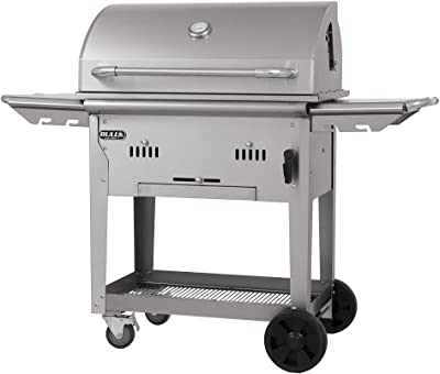 Bull Outdoor Products 88000 Bison Charcoal Grill Cart, Stainless Steel