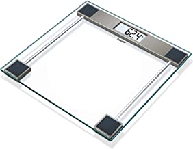Beurer Glass Bathroom Scale with LCD Digital Display, Transparent