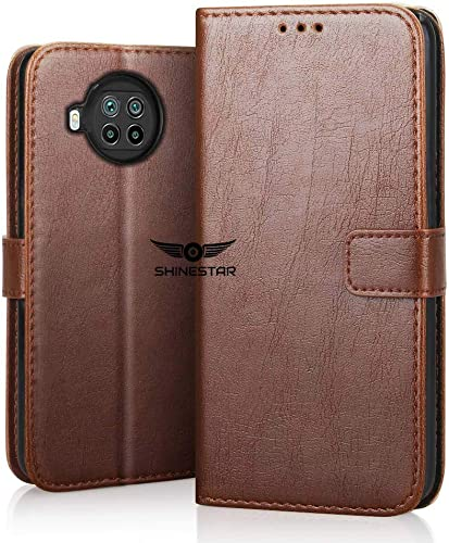 SHINESTAR Mi 10i 5G Flip Cover PU Leather Flip Case Wallet Cover with TPU Silicone Back Case Cover for Mi 10i 5G Classic Brown