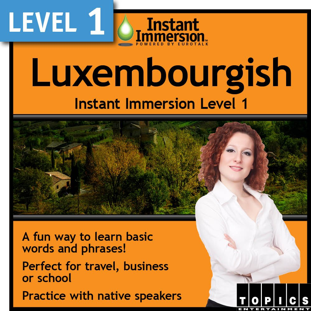 Max 85% OFF Instant Today's only Immersion Level 1 Luxembourgish - Download