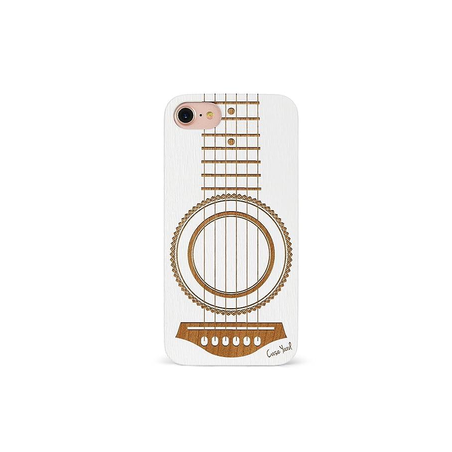 iPhone 7 Case, CaseYard [Wood Series] Slim Fit Stylish Hybrid Case for Apple iPhone 7,Luxury Lightweight Premium Case (White)Guitar o363692248