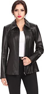 Women's Ellen Lambskin Leather Jacket (Regular and Plus Size and Short)