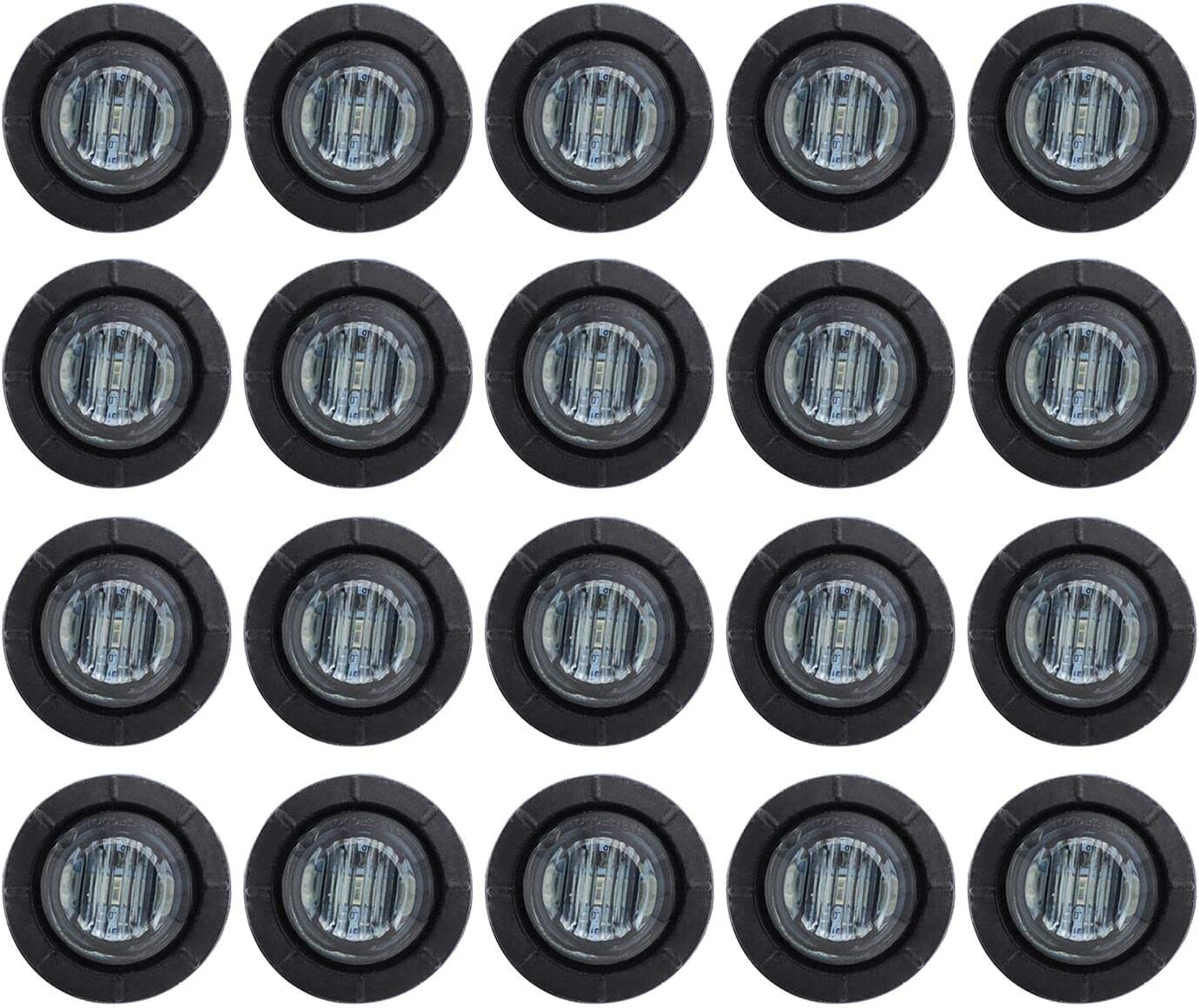 Max 81% OFF Pack of 20 TMH 3 4 Inch Lens Mount RED Challenge the lowest price Clearance LED Smoked