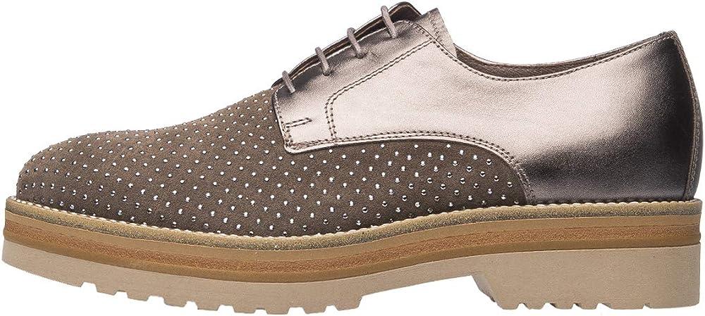 Nero giardini oxford e derby donna scarpe in pelle e  camoscio A806560D