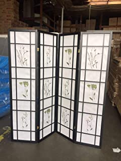 4 Panel Room Divider Coaster Oriental Floral -...
