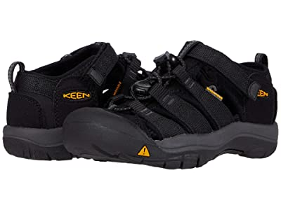 Keen Kids Newport H2 (Toddler/Little Kid) (Black/Keen Yellow) Kids Shoes