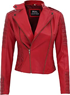 Best red cropped leather jacket Reviews
