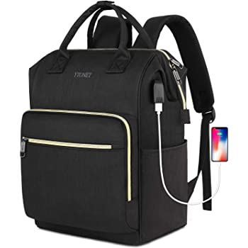 Laptop Backpack for Women, 15 inch RFID Anti-Theft Business Travel Backpack with USB Charging Port, Water Resistant Slim College School Computer Bag for Girls Boys Men