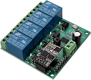 DC12V ESP8266 Vier Kanaals Wifi Relais I O T Smart Home Telefoon APP Afstandsbediening Schakelaar Motorfiets Deel