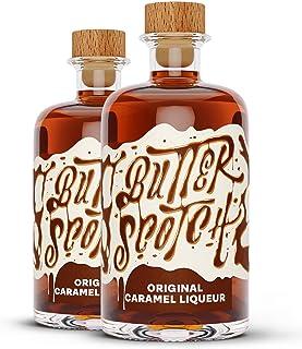 Butterscotch Original Caramel Liqueur - Karamell Likör im Doppelpack 2 x 0.5l
