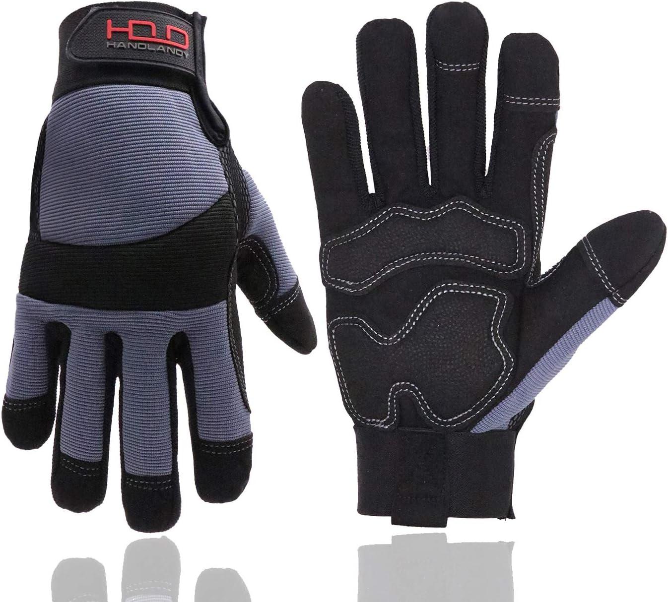 HANDLANDY Anti Vibration Safety Work Men Super Special SALE held for Breat Ranking TOP1 Gloves Women