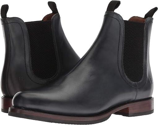 Black Dip-Dye Leather
