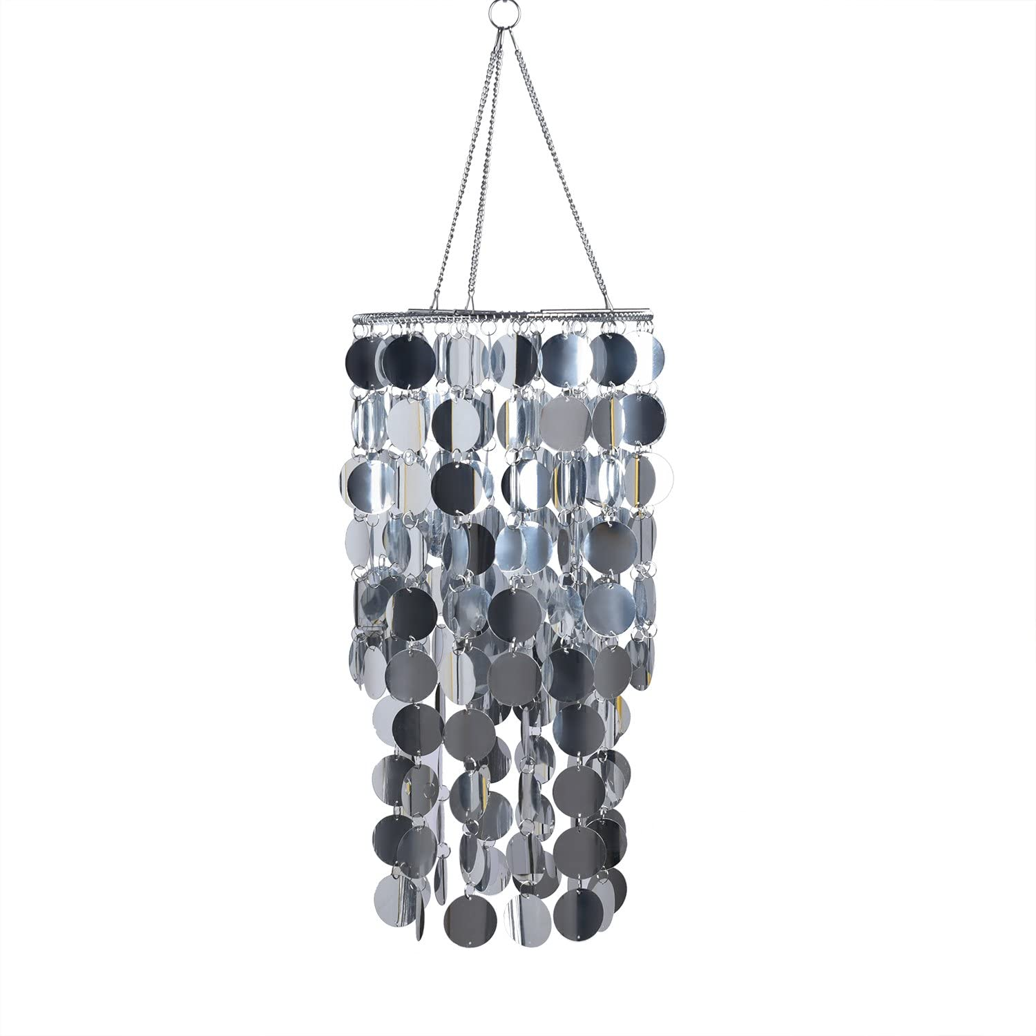 Import FlavorThings Silver Bling Spangle Large discharge sale Chandelier Hanging