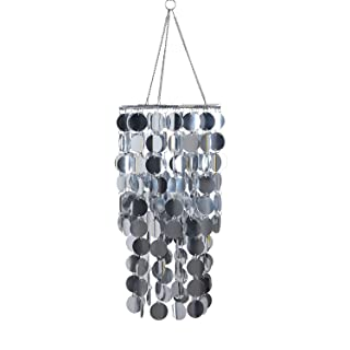 FlavorThings Bling Hanging Chandelier Great idea for Wedding Chandeliers Centerpieces Decorations and Any Event Party Decor (Silver)