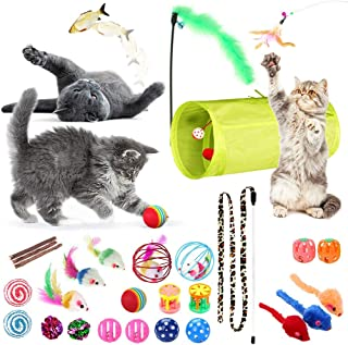 SunGrow Jumbo Pack of Cat Toys, Provides Unlimited Fun and Playtime for Your Kitten, Helps in Improving Physical and Psych...