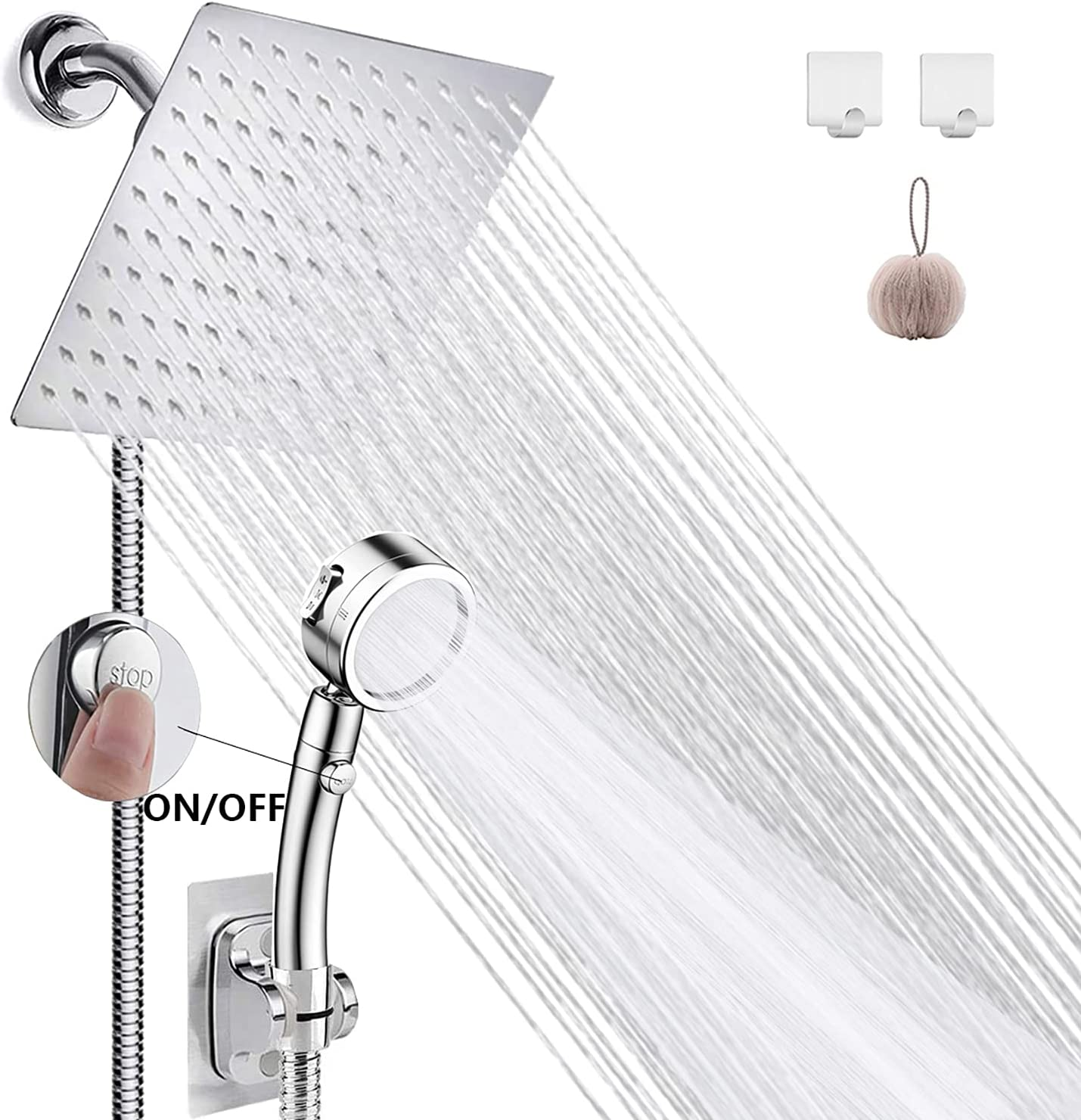 Shower Head Max 46% OFF Rain with Handheld 8'' High Pres WEISTERLLY Be super welcome