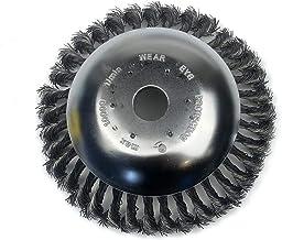 Lâmina aparadora de fio 6 pol. Cuculo Lâmina do aparador de fio de 6 pol. Roda de arame escova rotativa para ervas daninha...