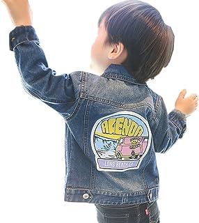 [もうほうきょう] ボーイズデニムジャケット ショートコート 上着 キッズ服 子供服 春秋 綿 柄 男の子