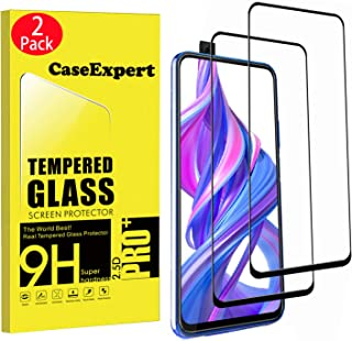 WenTian 2-pack – Huawei P smart Pro 2019 härdat glas, CaseExpert® härdat glas kristallklart skärmskydd vakt och polerduk f...