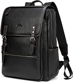 Best mens black faux leather backpack Reviews