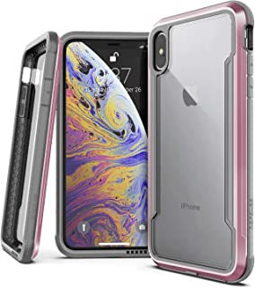 """X-Doria Defense Shield Series, iPhone Xs Max Case - Military Grade Drop Tested, Anodized Aluminum, TPU, and Polycarbonate Protective Case for Apple iPhone Xs Max, 6.5"""" inch Screen, [Rose Gold]"""