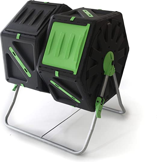 UPP® Compostador de Barril, 2 cámaras de 70L para jardín o balcón I compostador térmico, ventilación Interna, acelera el compostaje, abono orgánico: Amazon.es: Jardín