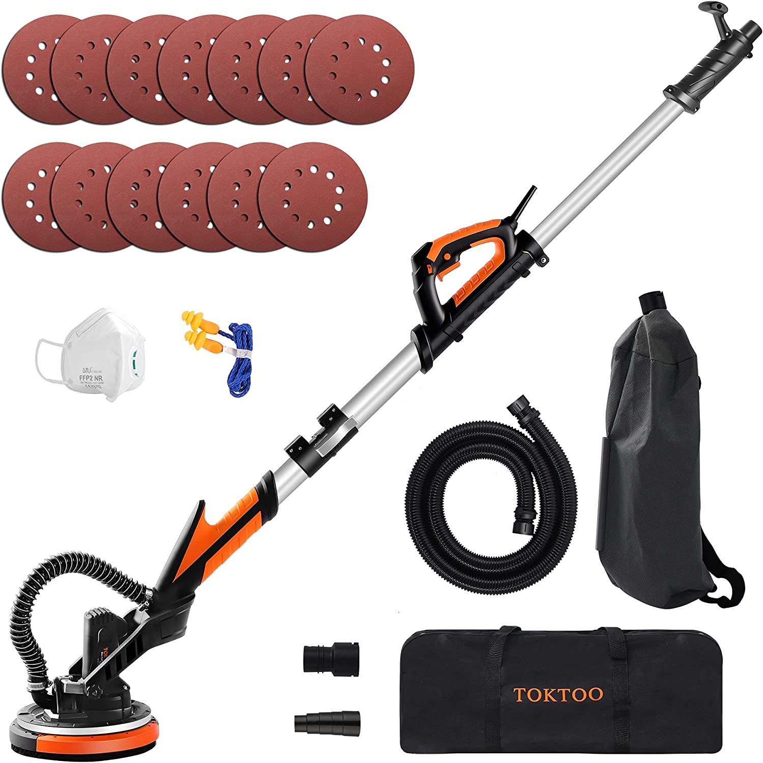 TOKTOO Drywall Sander 750W Electric Attachme Ranking TOP11 with Popular products Vacuum