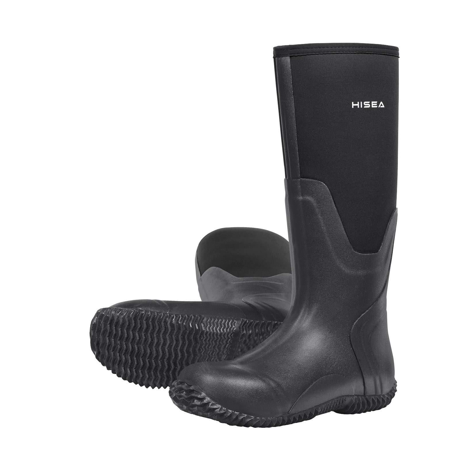 Hisea Men's Rain Boots Waterproof