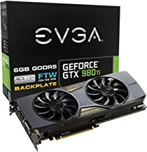 EVGA GeForce GTX 980 Ti 6GB FTW GAMING ACX 2.0+, Whisper Silent Cooling w/ Free Installed Backplate Graphics Card 06G-P4-4996-KR