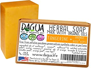 Soap made with organic ingredients cold processed vegan cruelty free made in the USA (Tangerine plus orange and rose hips,...