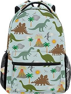 Mochila escolar con diseño de dinosaurios y volcanes, ideal para llevar los libros o para viajar o hacer senderismo