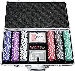 ポーカーチップセット300 【アタッシュケースセット ブラック】 訳あり カジノ パーティーゲーム チップ ダイス トランプ ディーラーボタン PC-2246A