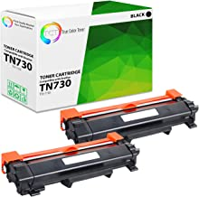 TCT Premium Compatible Toner Cartridge Replacement for Brother TN-730 TN730 Black Works with Brother HL-L2350DW L2370DW L2390DW, DCP-L2550DW, MFC-L2710DW L2730DW Printers (1,200 Pages) - 2 Pack