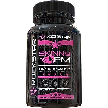 Rockstar Skinny PM Diet Pill for Women, Thermogenic Hyper-Metabolizer, Nighttime Non-Stimulant Weight Loss Pills for Women, 60 Veggie Caps, Fat Burner