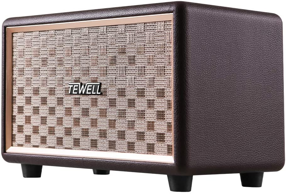 TEWELL Vintage Bluetooth Speakers, Bass Enhanced Technology, Retro Speakers Plug-in Speakers for PC, Laptop, Desktop, Tablet, Cellphone and Projector