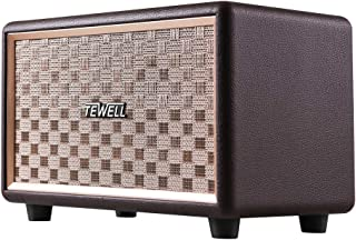 TEWELL Wood Bluetooth Speakers, Bass Enhanced Technology, Plug-in Speakers for PC,..