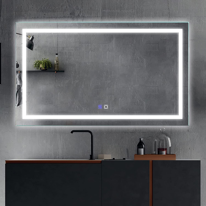 outlet ExBrite LED Bathroom Vanity Mirror 40 Nigh Fog 24 inch Anti Max 47% OFF x