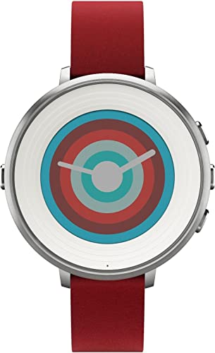2021 Pebble popular Technology Corp Smartwatch for iPhone/Android Smartphone - online Silver/red online sale