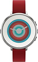 Pebble Technology Corp Smartwatch for iPhone/Android Smartphone – Silver/red