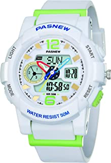 PASNEW Kids Watch Multi Function Digital-Analog Sport Watches for 6-Year Old or Above Children