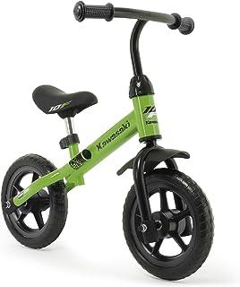 INJUSA- Bicicleta Kawasaki Balance sin Pedales para Niños de 3 Años de Fácil Manejo y Ruedas de Goma Eva, Color Verde, 69 x 38,5 x 52 cm (5085)