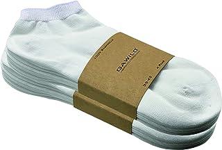 GAWILO Lot de 8 paires de chaussettes de sport en coton naturel - Pour homme et femme - 100 % pur coton naturel - Sans cou...