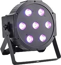 GBGS LED Up Lighting RGBW LED Par Lights 10W x 7 LED DMX 4-in-1 Par Can Stage Lighting Super Bright for Wedding DJ Event Party Show