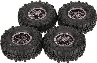 Goolsky 4Pcs AUSTAR AX-4020C 1.9 Inch 110mm 1/10 Rock Crawler Tires with Beadlock Wheel Rim for D90 SCX10 AXIAL RC4WD TF2 RC Car