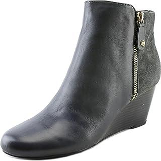 Isaac Mizrahi Cognac Brown Leather /& Suede Kierra Wedge Ankle Boots NEW