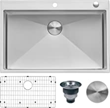 Ruvati 33 x 22 inch Drop-in Tight Radius 16 Gauge Stainless Steel Topmount Kitchen Sink..