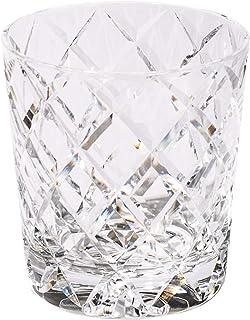 クリスタル江戸切子 矢来紋 オールドグラス(透き)TB5136-10 桐箱入り 太武朗工房直販 日本製