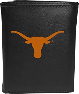 Siskiyou Sports NCAA Texas Longhorns Tri-Fold Wallet Large Logo, Black