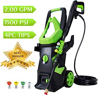 WATTY 3500 PSI 2.0 GPM Electric Pressure Washer, Electric Power Washer with 4 Quick-Connect Spray Tips, Portable Car Wash Machine,Cleaning Assistant Helpful Helper for Household Cleaning Tasks