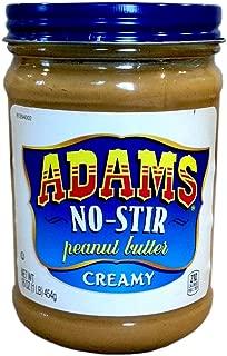 Adams NO-STIR Natural CREAMY PEANUT BUTTER 16oz (3 Pack)